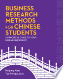 Business Research Methods for Chinese Students