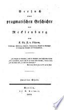 Versuch einer pragmatischen Geschichte von Mecklenburg