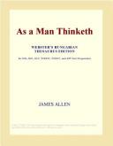 As a Man Thinketh  Webster s German Thesaurus Edition