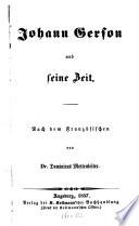 Johann Gerson und seine Zeit