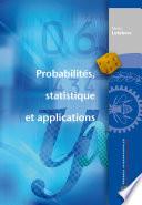 Probabilit  s  statistique et applications