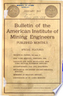Bulletin of the American Institute of Mining Engineers