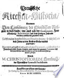 Preussische Kirchen-Historia ... aus vielen gedruckten und geschriebenen Documenten. Few MS. notes