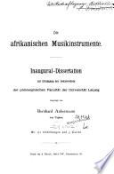 Die afrikanischen musikinstrumente