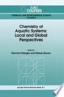 Chemistry of Aquatic Systems  Local and Global Perspectives