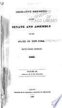 Legislature Documents of the Senate and Assembly of the State of New York