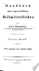 Handbuch der speciellen Heilmittellehre