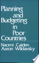 Planning and Budgeting in Poor Countries