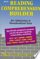 Reading Comprehension Builder for Admission and Standardized Tests