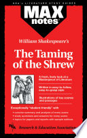 Taming of the Shrew  The  MAXNotes Literature Guides