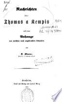 Nachrichten über Thomas a Kempis