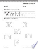 Pre Kindergarten Foundational Phonics Skills  Primary Sound m
