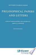 Philosophical Papers and Letters