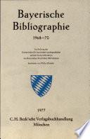 Bayerische Bibliographie 1968-70