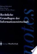 Rechtliche Grundlagen Der Informationswirtschaft