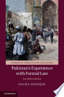 Pakistan s Experience with Formal Law