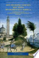 Arte  religione  comunit   nell Italia rinascimentale e barocca