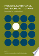 Morality  Governance  and Social Institutions