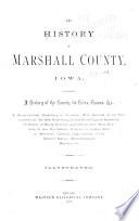 The History of Marshall County  Iowa