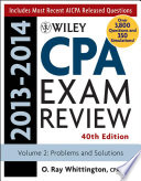 Wiley CPA Examination Review 2013 2014  Problems and Solutions