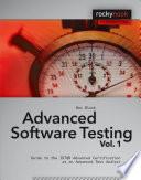 Advanced Software Testing   Vol  1