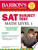 Sat Subject Test Math Level 1  3rd Edition