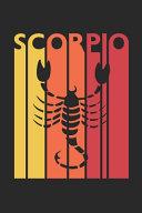 Retro Scorpio Notebook Horoscope Journal Zodiac Signs Diary October November Birthday Scorpio Gift