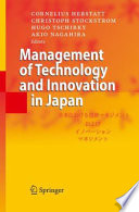 Management of Technology and Innovation in Japan
