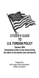 Citizen s Guide to U S  Foreign Policy