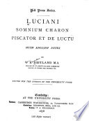 Somnium  Charon  Piscator et De Lucto  with English notes