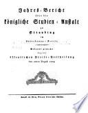 Jahres-Bericht über die Königl. Studien-Anstalt in Straubing