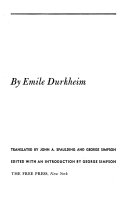 Suicide; a Study in Sociology