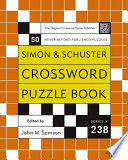 Simon And Schuster Crossword Puzzle Book : cross word puzzle book. not...