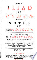 The Iliad of Homer  with Notes  To which are Prefix d  a Large Preface  and the Life of Homer  by Madam Dacier  Done from the French  in Prose  by Mr  Ozell   Mr  Broome  Mr  Oldisworth       To which Will be Made Some Farther Notes     by Mr  Johnson  Late of Eton      Illustrated with 26 Cuts     Design d by Coypel
