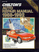 Chilton S Auto Service Manual