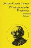 Physiognomische Fragmente zur Bef  rderung der Menschenkenntnis und Menschenliebe