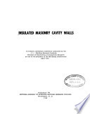 Insulated Masonry Cavity Walls