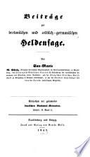 Beiträge zur bretonischen und celtisch-germanischen Heldensage