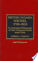 British Women Writers  1700 1850