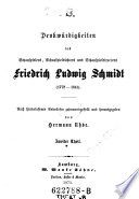 Denkwürdigkeiten des Schauspielers, Schauspieldichters und Schauspieldirectors Friedrich Ludwig Schmidt