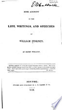 Some account of the life  writings  and speeches of William Pinkney