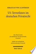 US-Terrorlisten im deutschen Privatrecht