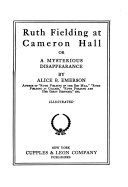 download ebook ruth fielding at cameron hall, or, a mysterious disappearance pdf epub
