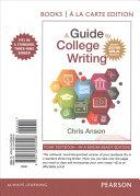 A Guide to Writing in College  MLA Update    Books a la Carte Edition