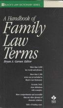 A Handbook of Family Law Terms