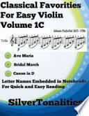 Classical Favorites for Easy Violin Volume 1 C