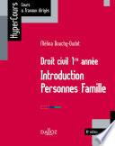 Droit Civil 1re Ann E Introduction Personnes Famille 10e D