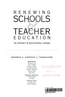 Renewing Schools And Teacher Education