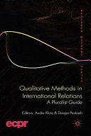 Qualitative Methods in International Relations