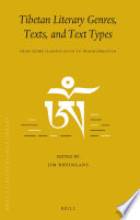 Tibetan Literary Genres Texts And Text Types book